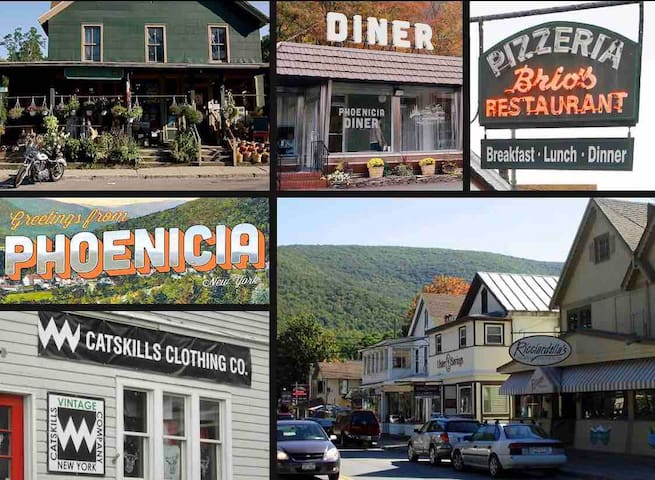 Phoenicia is a quaint town to explore and less than 20 minutes from Hunter.