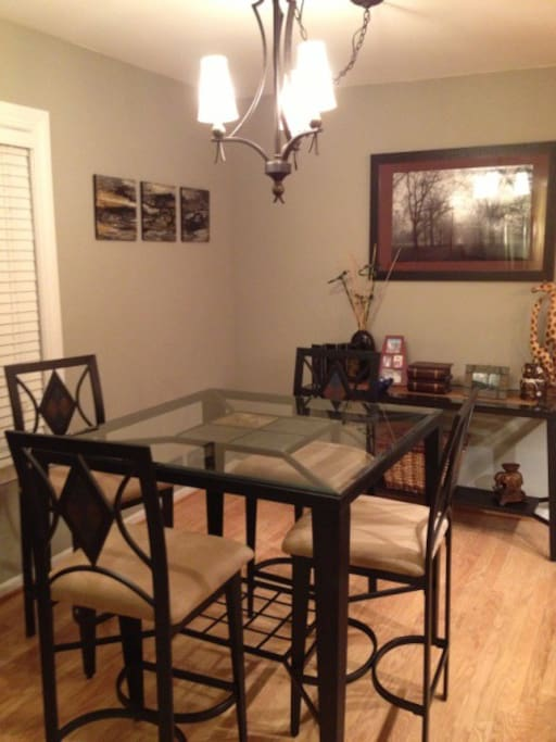 Dining Table adjacent to kitchen