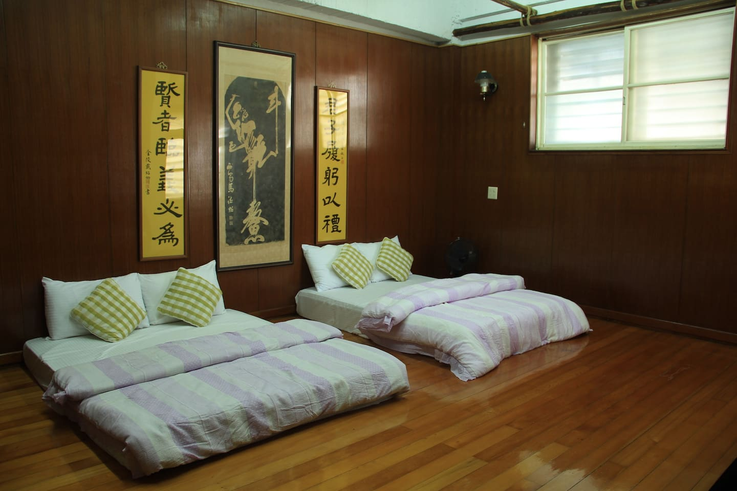Japanese style room with two double beds