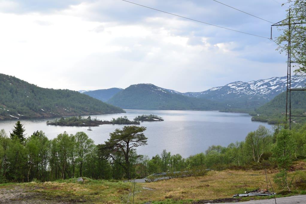utsikten fra hytten