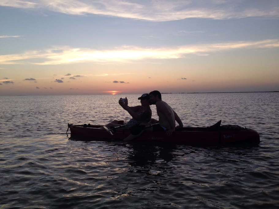 Join us for a free sunset kayak/SUP 2-hour adventure for your  group w/  rental