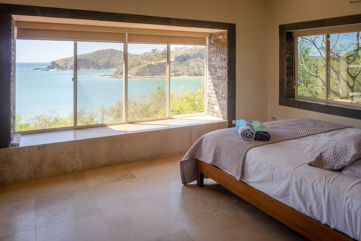 Master bedroom with amazing ocean views.