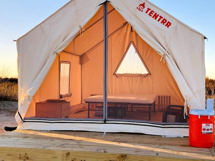 Tentrr Grand Isle State Park: Beachfront Campsite