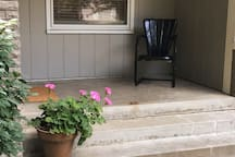 front porch for sipping coffee