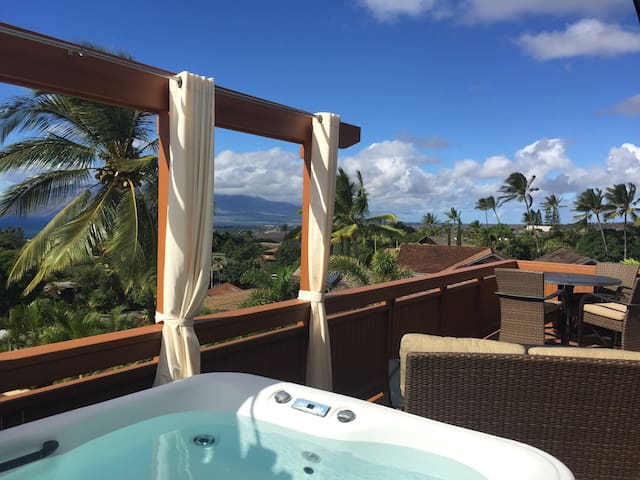 Sexy Luxe Guesthouse + 180° Views + Own Hot Tub - Kihei
