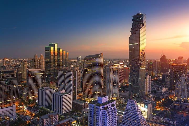 Silom CBD room 5min to BTS Skytrain沙吞是隆高端公寓/真正市中心