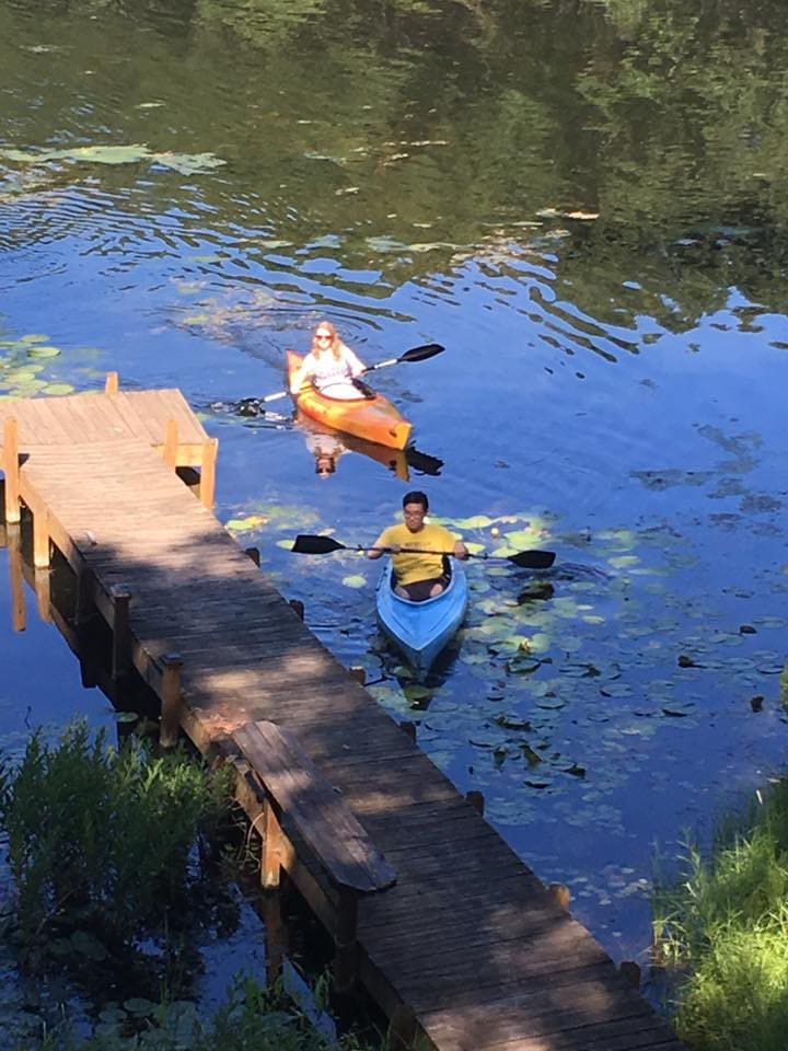 A beautiful lake to explore by kayak or swimming...and within a short drive there are miles and miles of wooded hiking or biking trails!