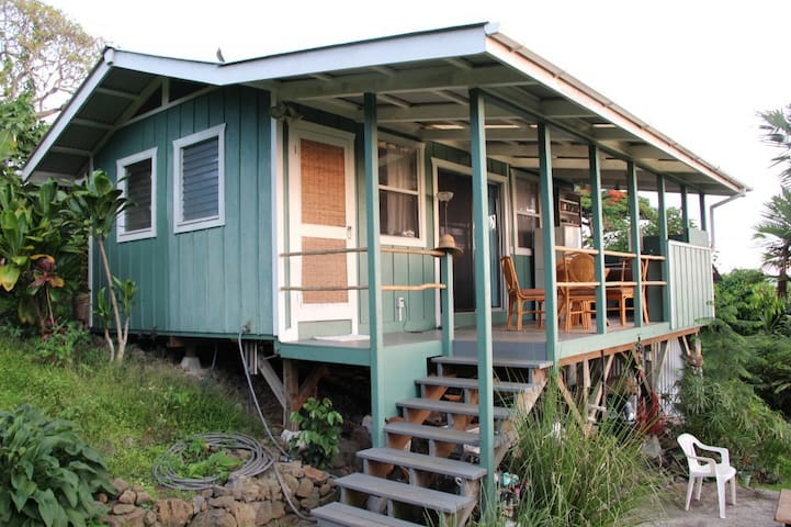 Garden Cottage with Ocean View - Kealakekua - Kabin