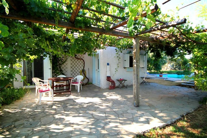 Private cottage with pool and gardens...
