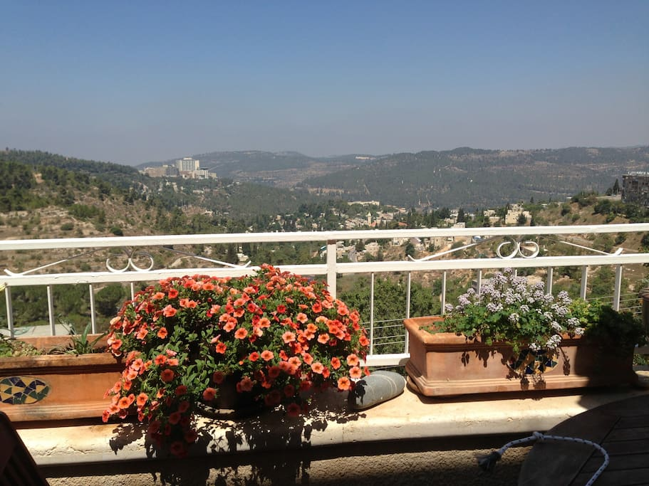The view of Ein Kerem and Jerusalem hills