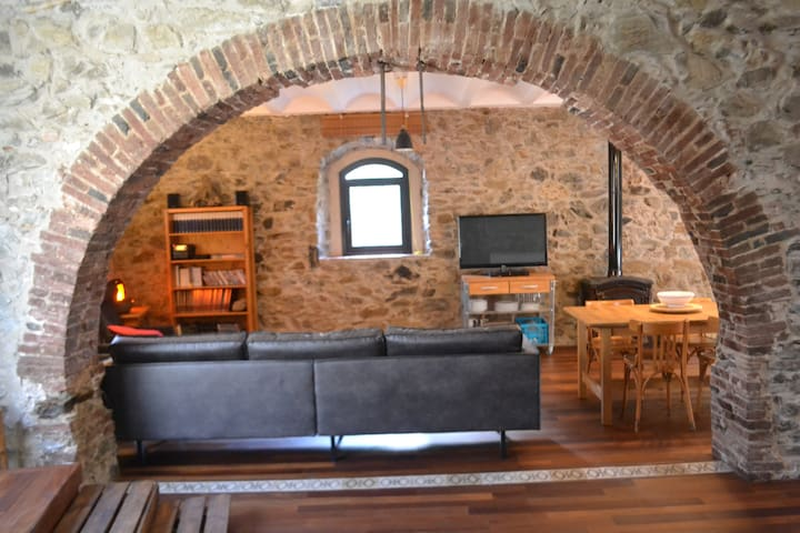 Chic rustic stone house