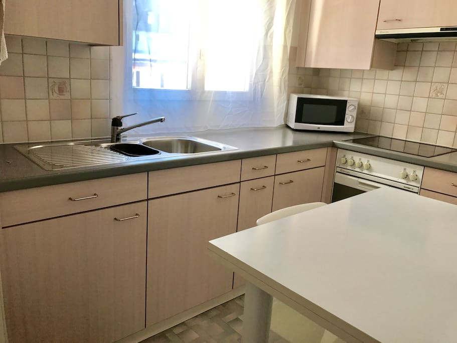 The kitchen is fully equipped. Guests are welcome to cook.