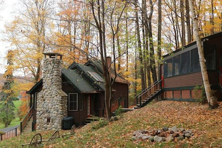 Adirondack home with guest cabin on Lake George