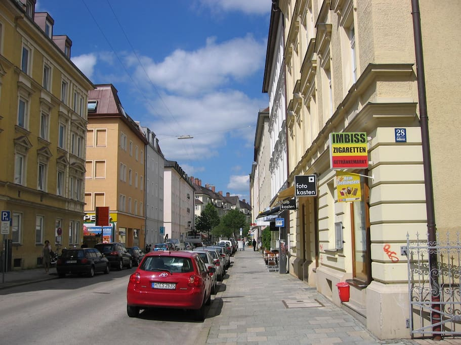 Westend, laid-back part of central Munich with small shops and lovely cafés to sit outside
