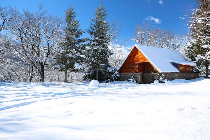 preciosa imagen de La Cabana de Ansils cubierta de nieve, invierno 2013-2014.