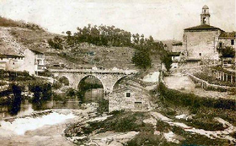 Puente sobre el rio Avia de primeros de siglo