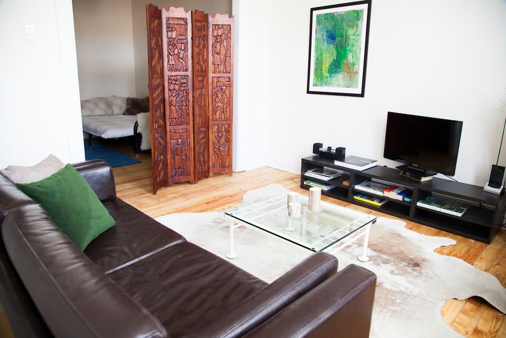 Salon et bureau/2e chambre