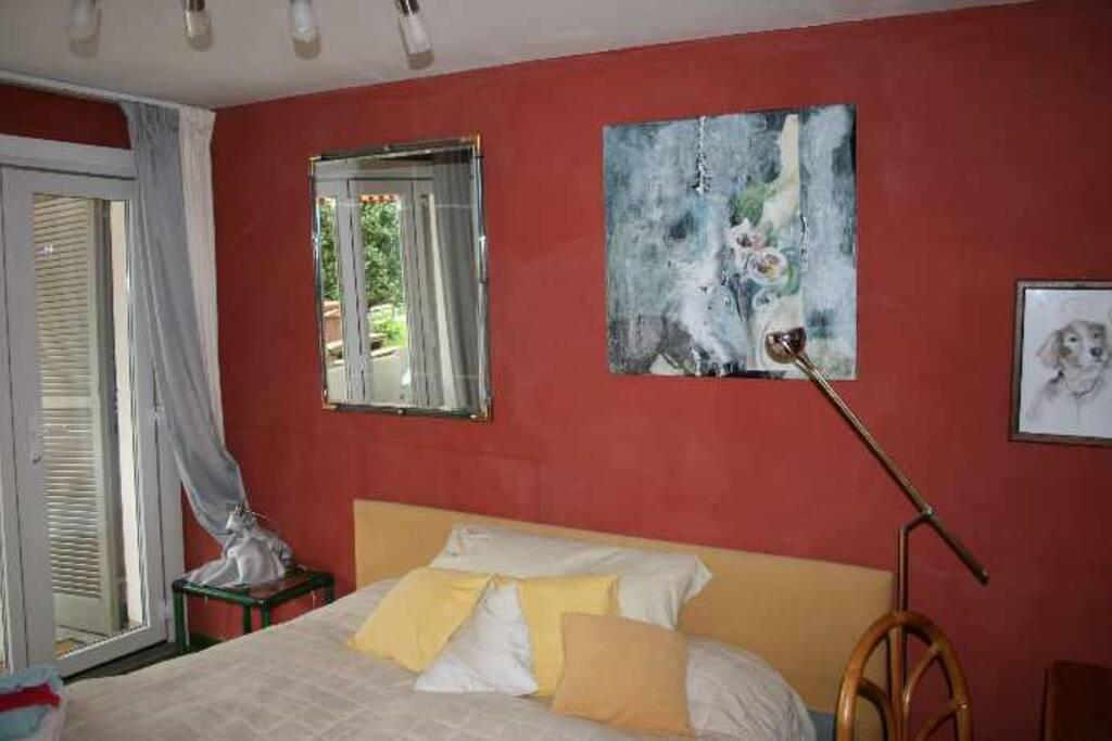 Schlafzimmer Camelie der Ferienwohung