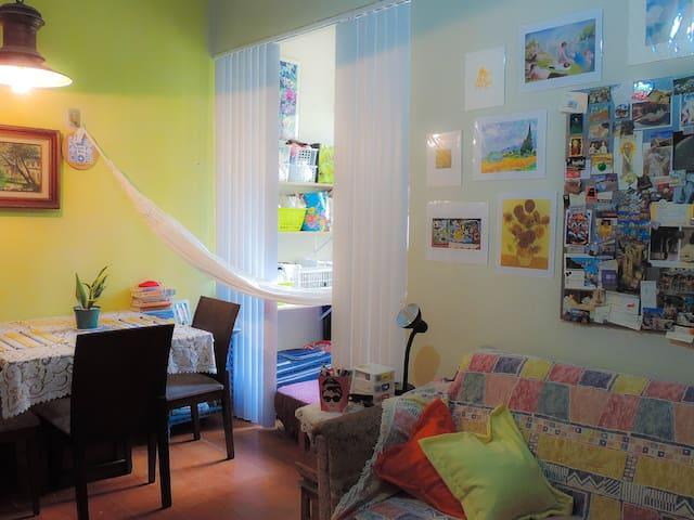 COPACABANA: LOVELY DOUBLE BEDROOM/ QUARTO DA PAZ