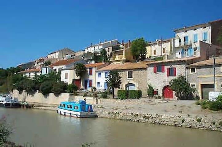 Chambre B&B - village Canal du Midi - Paraza - Casa