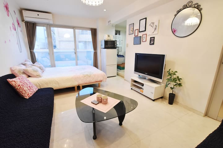NEW|7min Sta|Bay area|30㎡|MAX4|Free pocket WiFi| - Minato-ku - Appartement