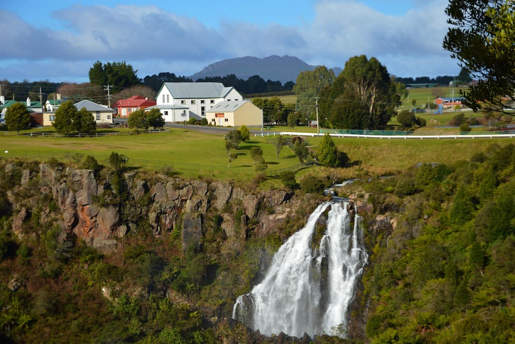 Stunning waterfall in the centre of town