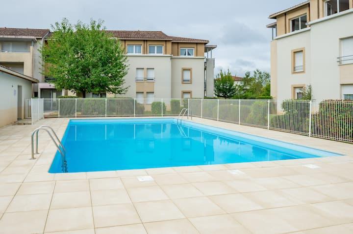 Cyrano - Appartement avec piscine - Bergerac