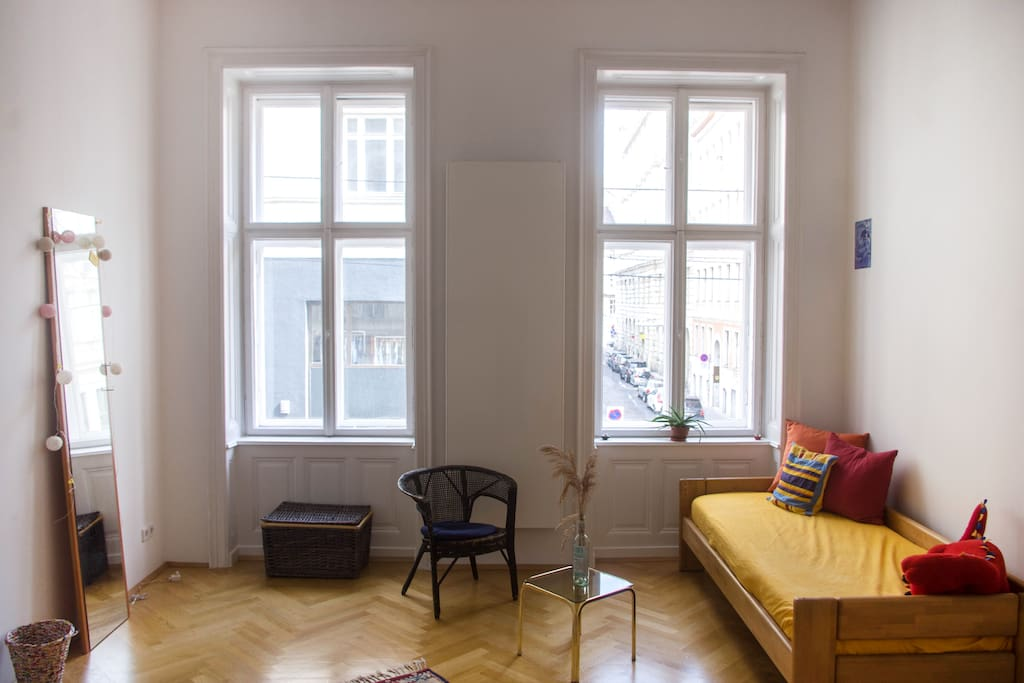 Your room with bright light and a nice view