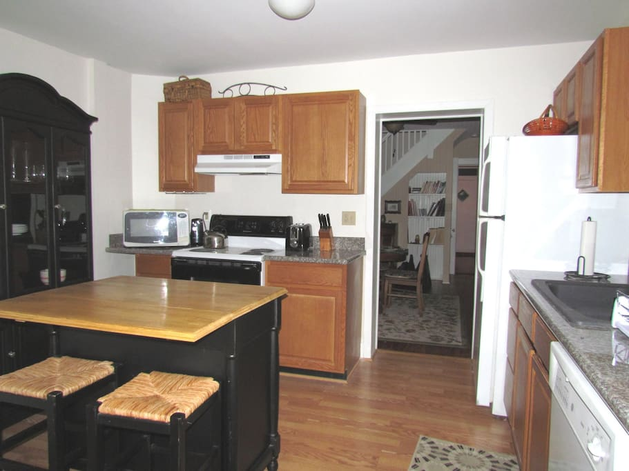 Kitchen with Island Seating for 2 and Pantry/Coat Closet