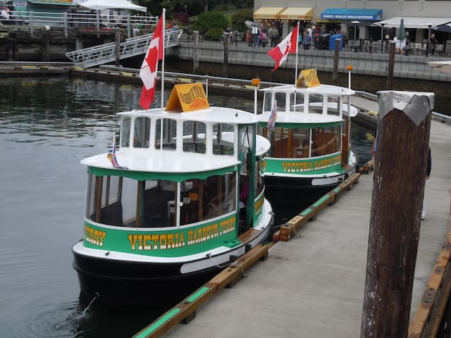 Water Taxis in the Inner Harbour just 3 blocks away