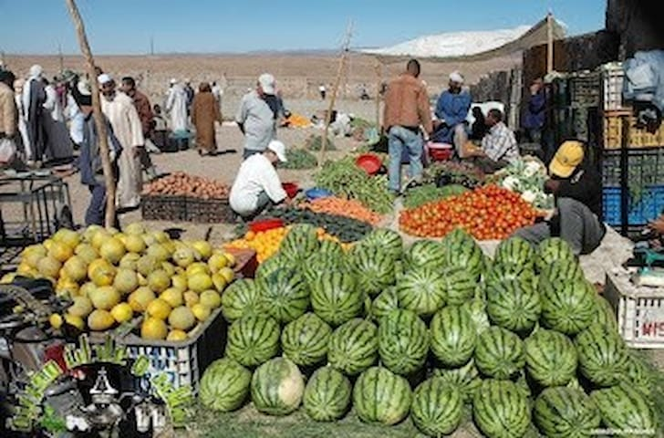 Local farmers' market at casbah of Mehdya