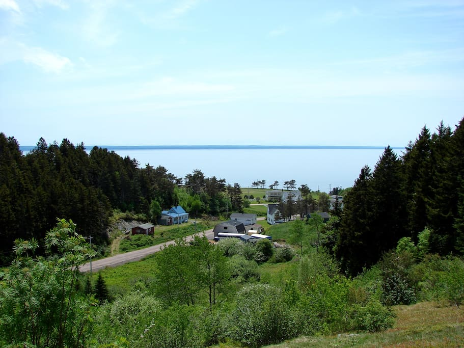 View from atop the hill; the sea is minutes away..
