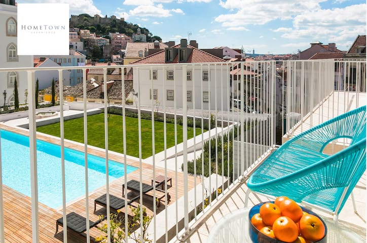Super Apt in Lisbon - Swimming Pool and Terrace