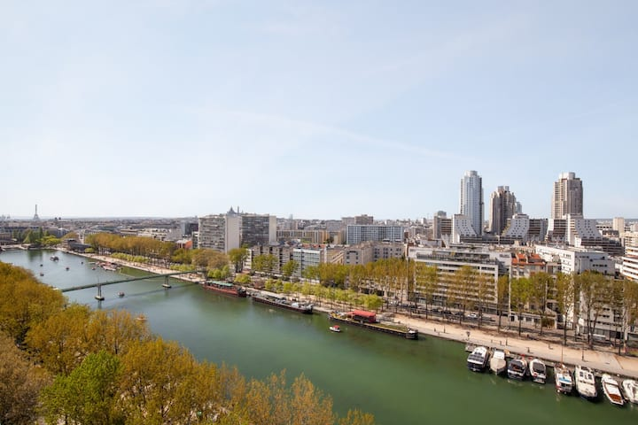 ★ Cozy studio 15th floor - Eiffel Tower view