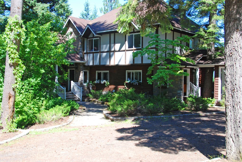 Our home is a 6 bedroom, 6,000 square feet log house on 6 acres.