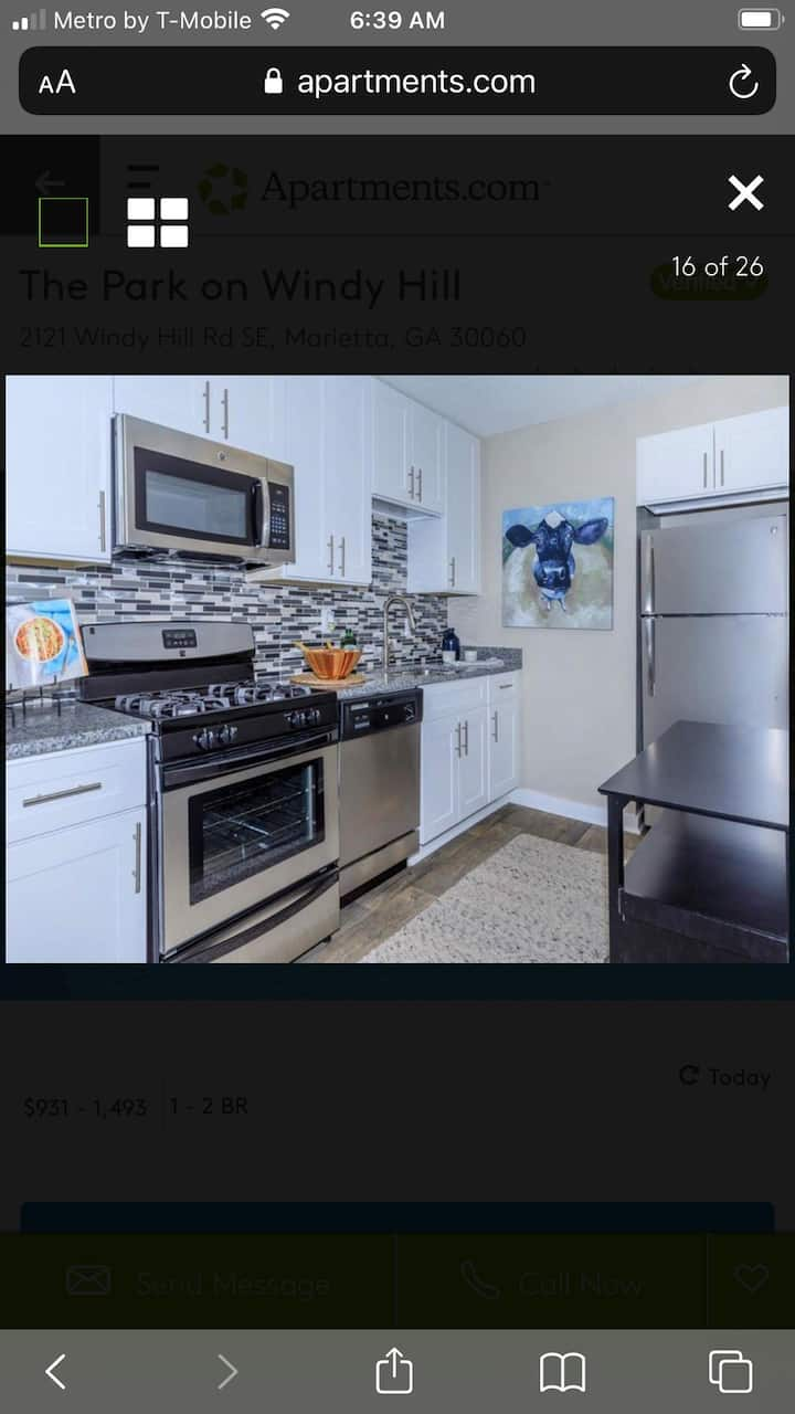 Amazing apartment minutes from Truist Park!!
