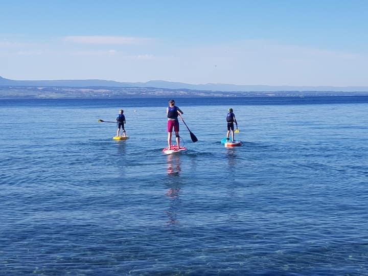 Chalet à 100m du Lac Léman dans un domaine privé