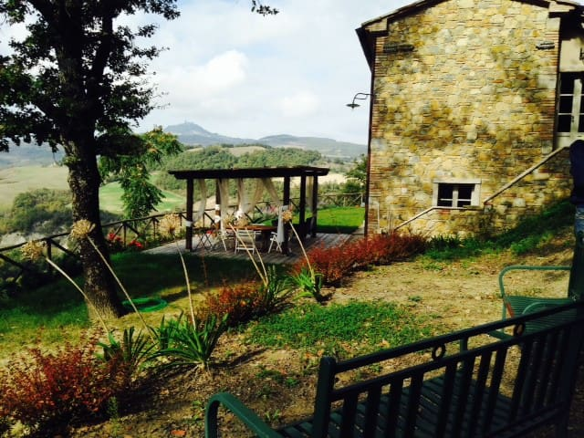 Toscana con panorama mozzafiato x6! - San Casciano dei Bagni - Haus