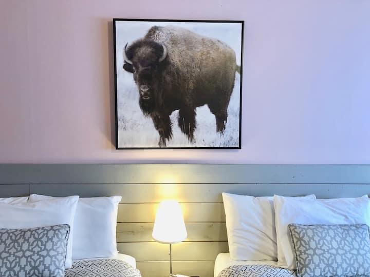 La chambre du bison (salle de bain privée)