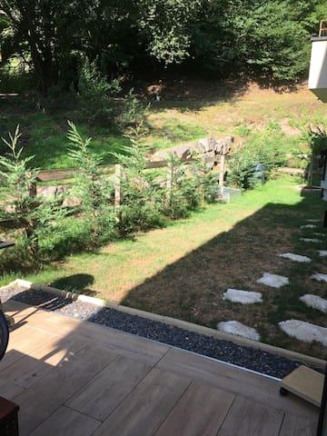 Appartement avec jardin chez l'habitant