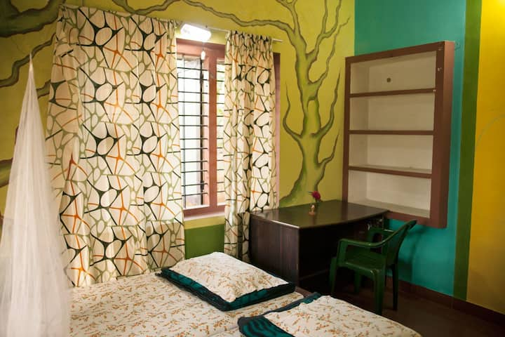 Spring Green Room in Serene Wayanad