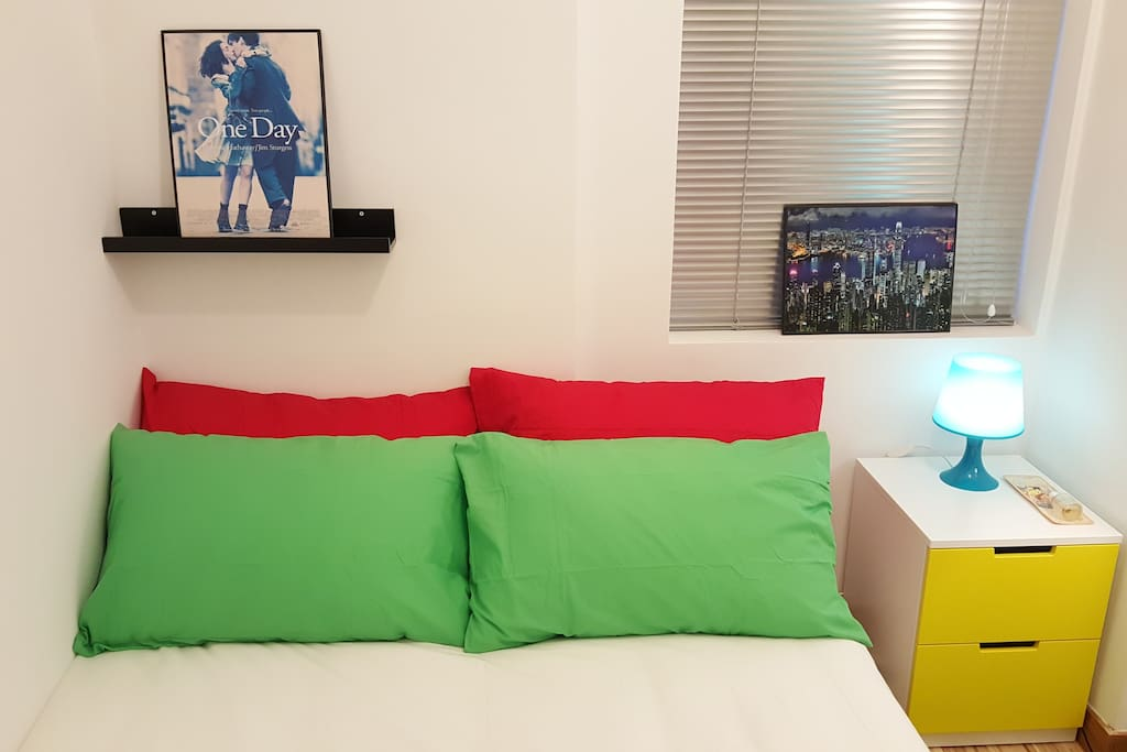 Red and Green pillow, very comfy
