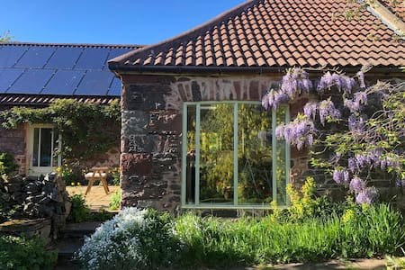 Secluded barn conversion in Scottish Borders.