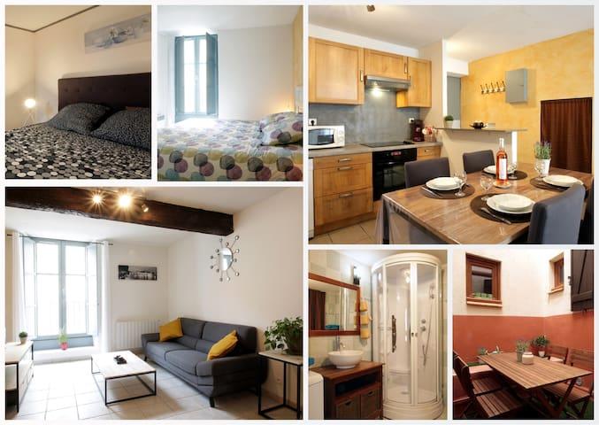 Apartment 3* City Center - 2 Bedrooms - Patio