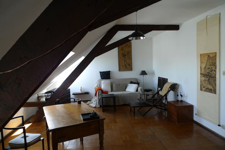 Artist's appartment near Basel - Saint-Louis - Apartamento