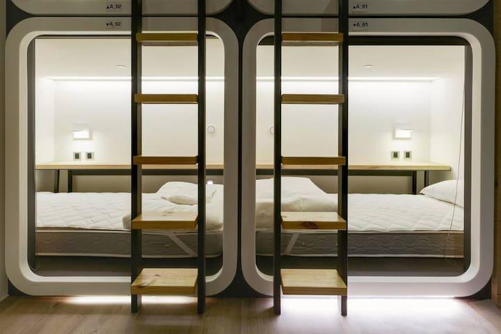 Single Bed in Mixed Dorm#TaipeiMainStation1min