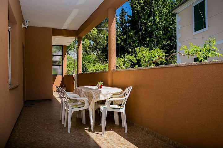 Two bedroom apartment near beach Seline, Paklenica (A-13295-a)