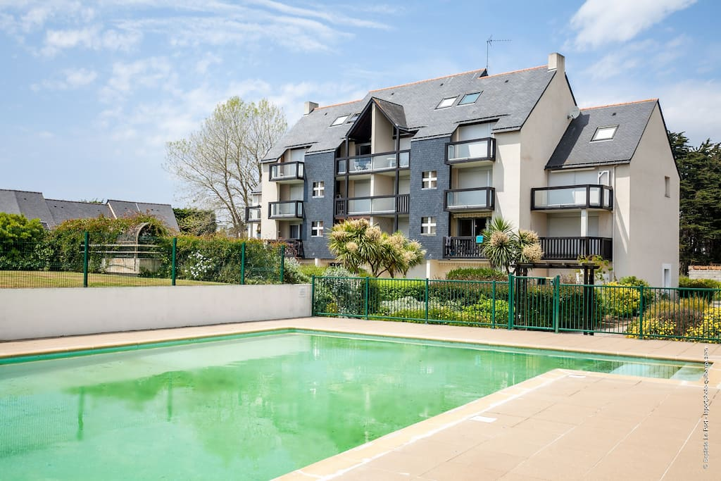 T2 rdj 4 pers r s avec piscine appartements louer for Piscine quiberon