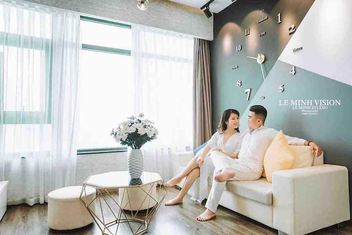 蜗牛无敌海景公寓&酒店(A-1402两房两厅&360°海景/山景/城市风景)