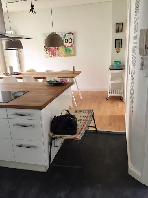 Køkken med udgang til Altan.